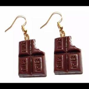chocolate bite earrings